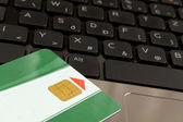 Chip card and keyboard — Stock Photo
