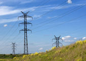 Electrical towers — Stock Photo