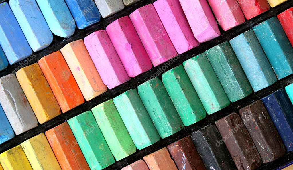 Color pastels  Stockfoto #6338619