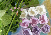 Soap flowers — Stock Photo