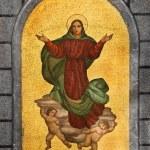Virgin Mary Mosaic — Stock Photo