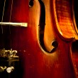 Close Up Violin Copy Space — Stock Photo