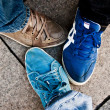 Shoes of three friends — Stock Photo