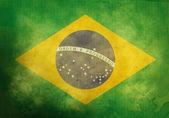 Grunge Brazilian Flag — Stock Photo