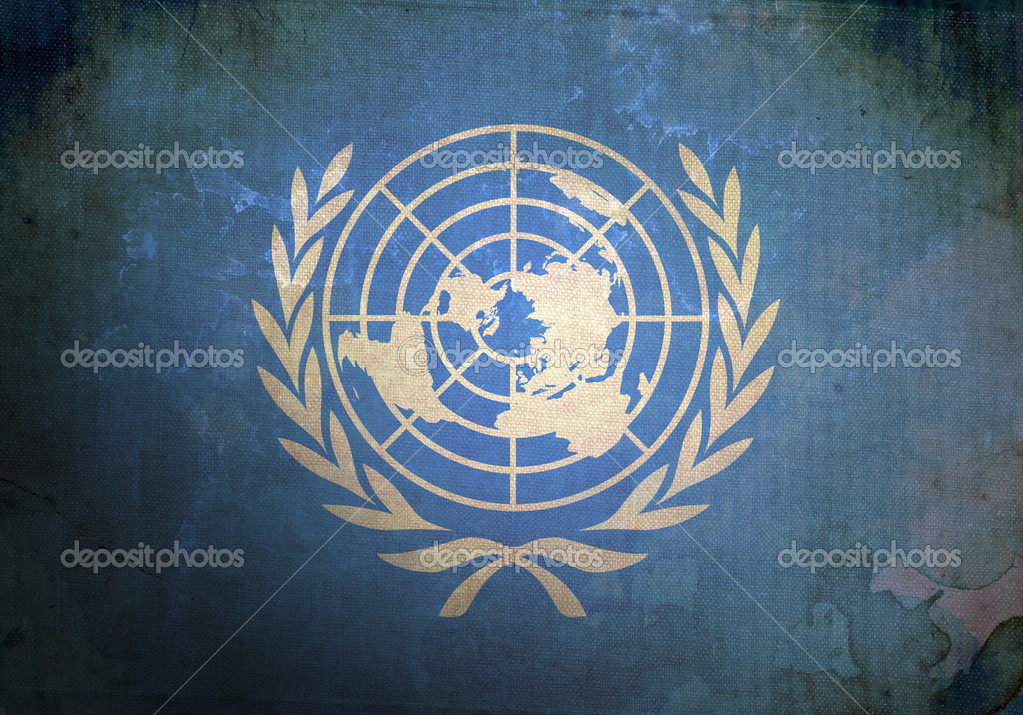The United Nations Flag on old and vintage grunge texture — Stock Photo #5720543