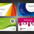 Royalty-Free Stock Vector Image: Modern and Colorful Business Card Designs