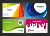 Design moderno e colorato business card — Vettoriale Stock