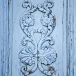 Blue Wooden Ornament - Stockfoto