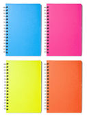 Blank Color Notebooks — Stock Photo