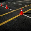 Traffic cones on the road — Stock Photo #5831436