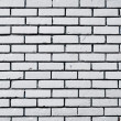 Square white brick wall background - Stock Photo