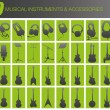 Royalty-Free Stock Vector Image: 40 musical instruments and accessories