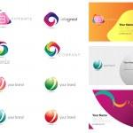 Modern Corporate design items — Stock Vector