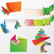 Origami Design Elements - Stock Vector