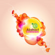 Abstract Orange Bubbles Background — Stock Vector #5856522