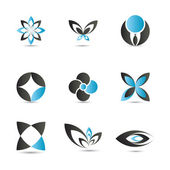 Blue logo elements — Stock Vector
