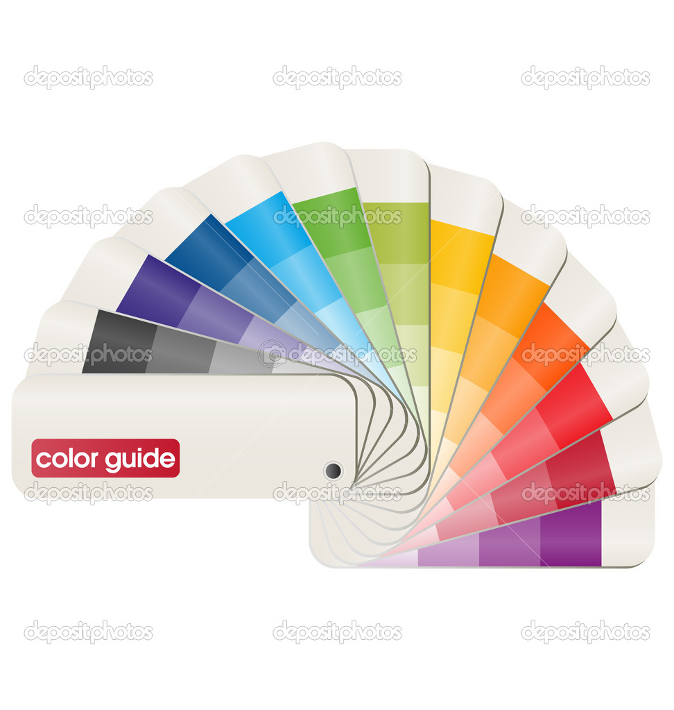 3D vector design of a print color guide  Stock Vector #5999999