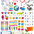 Tens of vector elements full set - Stock Vector