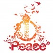 Royalty-Free Stock Vector Image: Beautiful Peace Ornamental Design