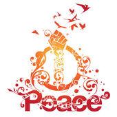 Beautiful Peace Ornamental Design — Stock Vector