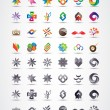 Colorful and grayscale vector design elements collection - Stok Vektör