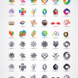 Wektor stockowy : Colorful and grayscale vector design elements collection