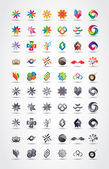 Colorful and grayscale vector design elements collection — Vecteur