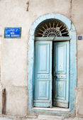 Wooden Tunisian Door — Stock Photo