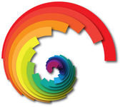 Rainbow swirl — Stock Photo