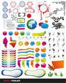 Tens of vector elements full set — Vector de stock