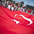 Giant Turkish Flag - Foto Stock
