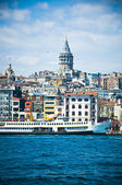 Galata Tower from the Bosphorus — Stock Photo