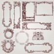 Antique Victorian Frames - Vettoriali Stock 