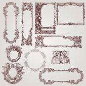 Antique Victorian Frames — Stock Vector