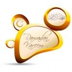 Golden Pebble Ramadan Kareem — Stock Vector