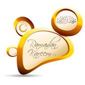 Altın çakıl ramazan kareem — Stok Vektör