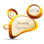 Guijarro oro ramadan kareem — Vector de stock