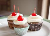 Tre muffins — Stockfoto