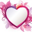 Pink Heart Floral Background — 图库矢量图片
