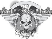 Grunge Urban Illustration — Wektor stockowy