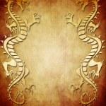 Vintage Dragon Paper Background — Stock Photo