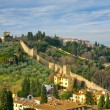 View on old city wall, Tuscan, Florence — Stock Photo