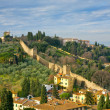 Stock Photo: View on old city wall, Tuscan, Florence