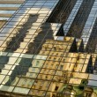 Fragment of glass tower - Stock Photo