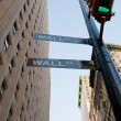 Crossing of Wall St and Broadway in NY — Stock Photo #5718813