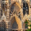 Entrance in Notre Dame Cathedral in Reims, France — Stock Photo #5718876