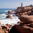 Stock Photo: Rose lighthouse on Pink Granite Coast in France