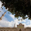 Stock Photo: Minaret and mosque entrance