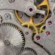 Stock Photo: Old mechanical watch close up