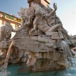 Fountain of the Four Rivers on Navona Square - ストック写真